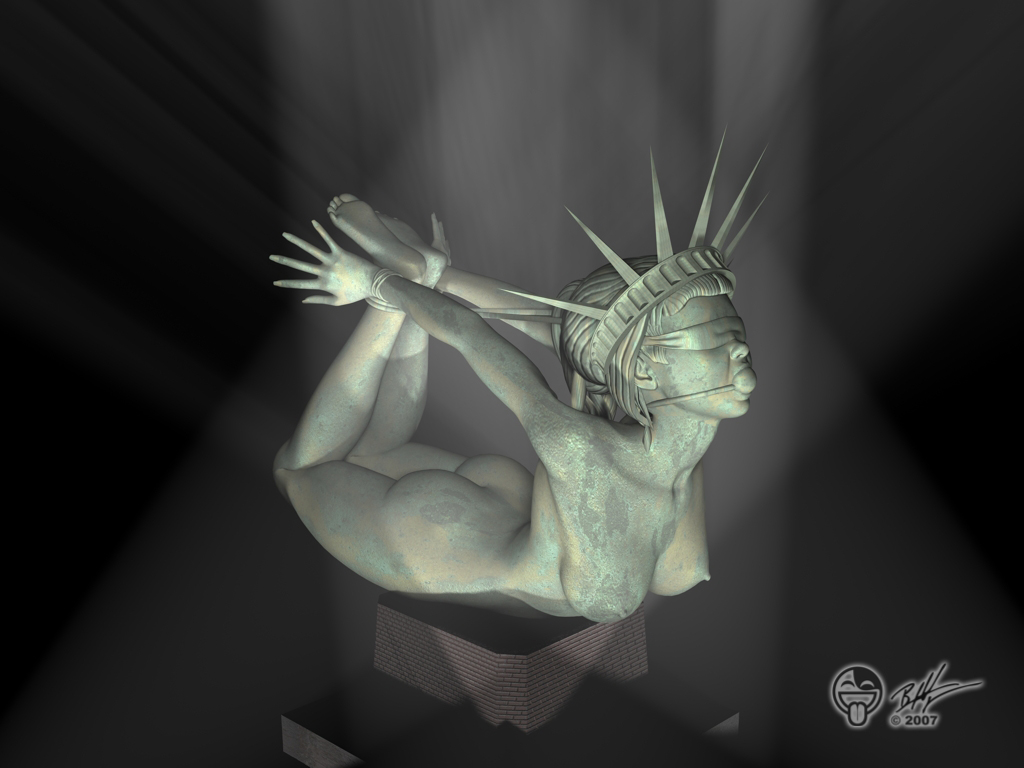 statue lady kissing of liberty justice Crush crush moist and uncensored