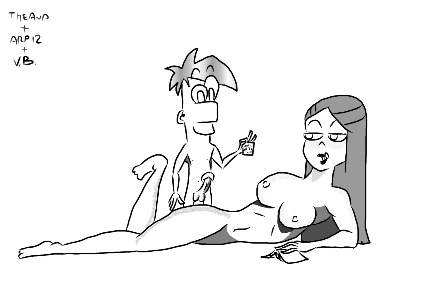 characters naked ferb and phineas Beauty and the beast angelique